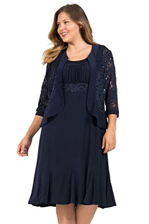 71f1f543289 R M Richards Short Mother of The Bride Plus Size Dress at Amazon Women s  Clothing store