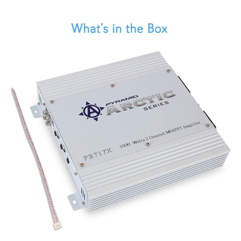 Pirámide PB717X Serie Ártico 1000W 2 Channel MOSFET Amplificador estéreo del coche: Amazon.es: Electrónica