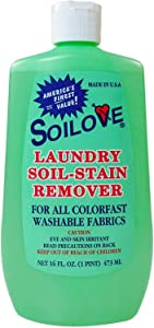 SOILOVE Laundry Soil-Stain Remover ~ 12 Pack ~ Deep Discount ~ Give Away To Family & Friends ~ No Risk ~ 100% Satisfaction Guaranteed! ~ Removes Blood, Grass, Grease, Ink, Blood & Most Other Stains ~ 100% Green ~ Try It Now!