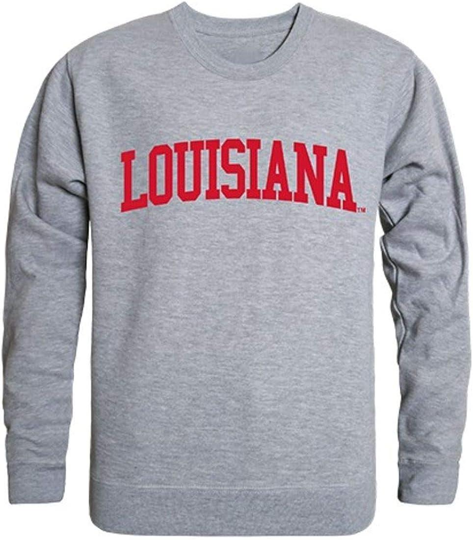 W Republic UL University of Louisiana at Lafayette Campus Crewneck Pullover Sweatshirt Sweater White