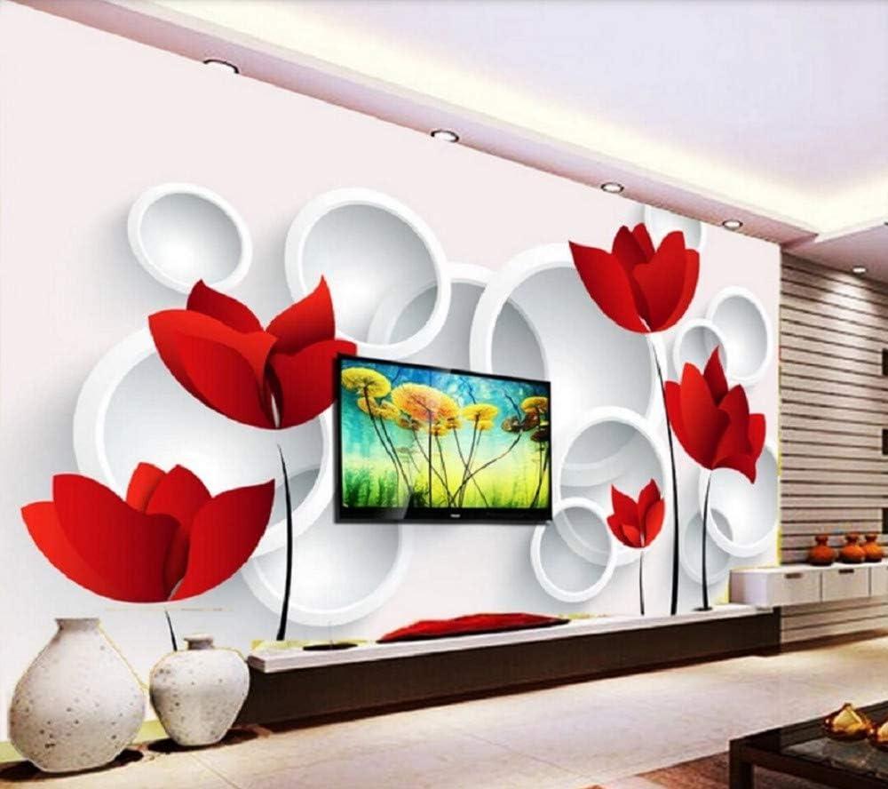 Wall Mural 3D Fantasy Flower Tv Decoration Custom Wallpaper