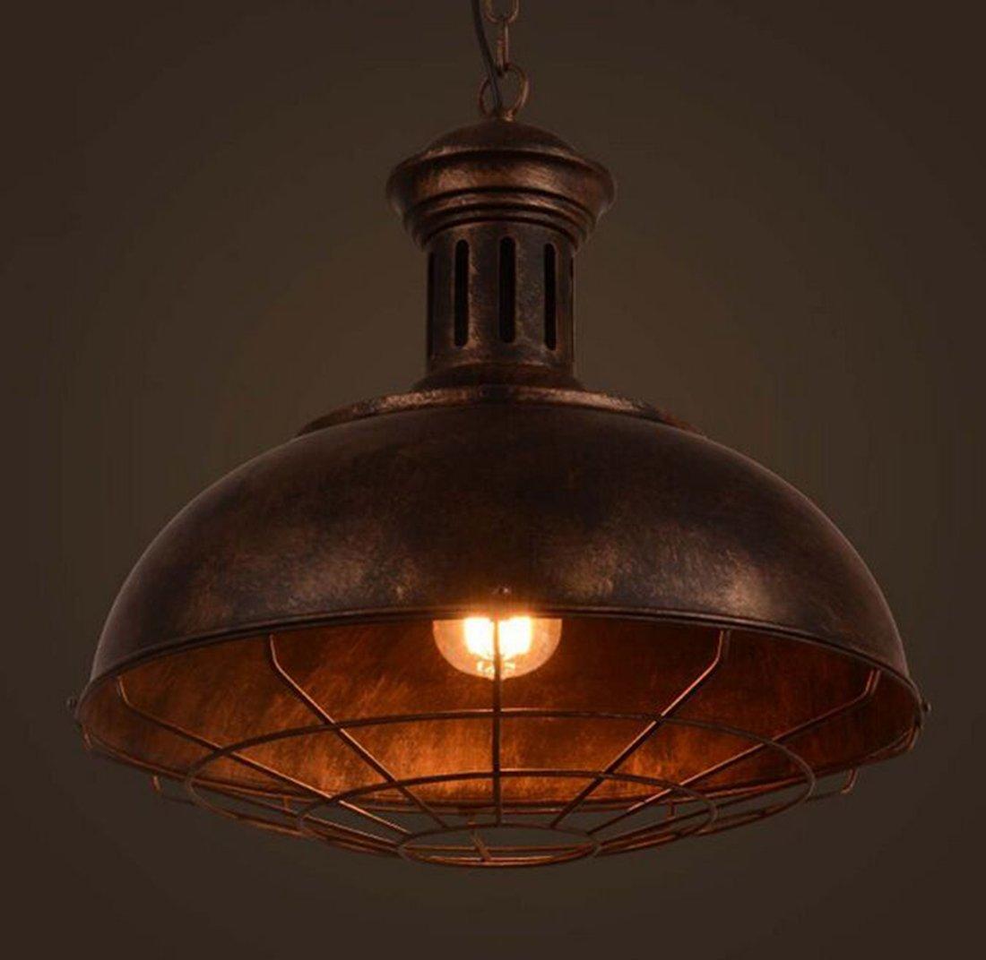 BAYCHEER Industrie Hängeleuchter Vintage mit Gitter Vintage Hängeleuchter Loft Kronleuchter Pendellampe b664a9