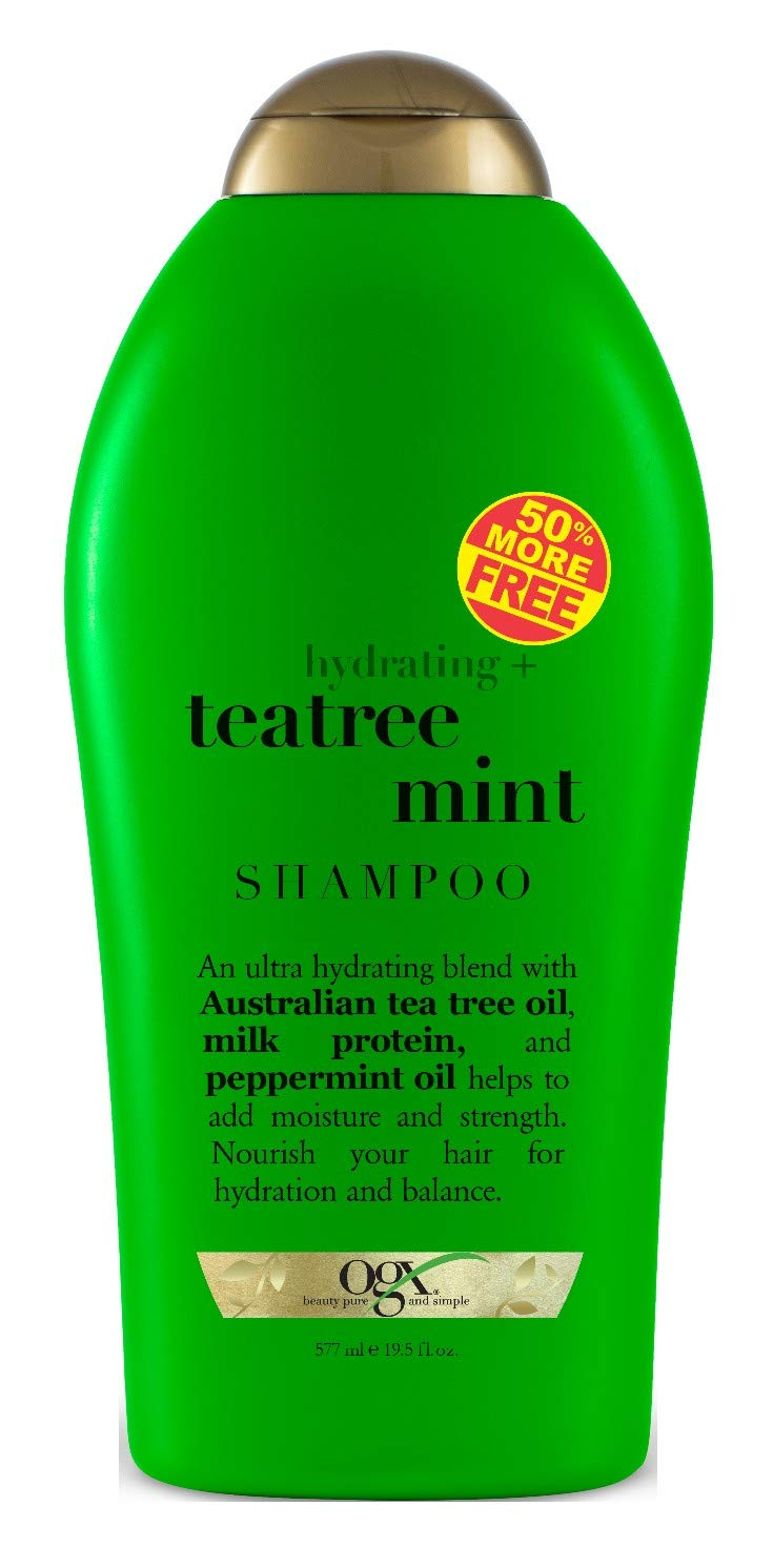 Ogx Shampoo Tea Tree Mint 19.5 Ounce (577ml) (2 Pack) by OGX