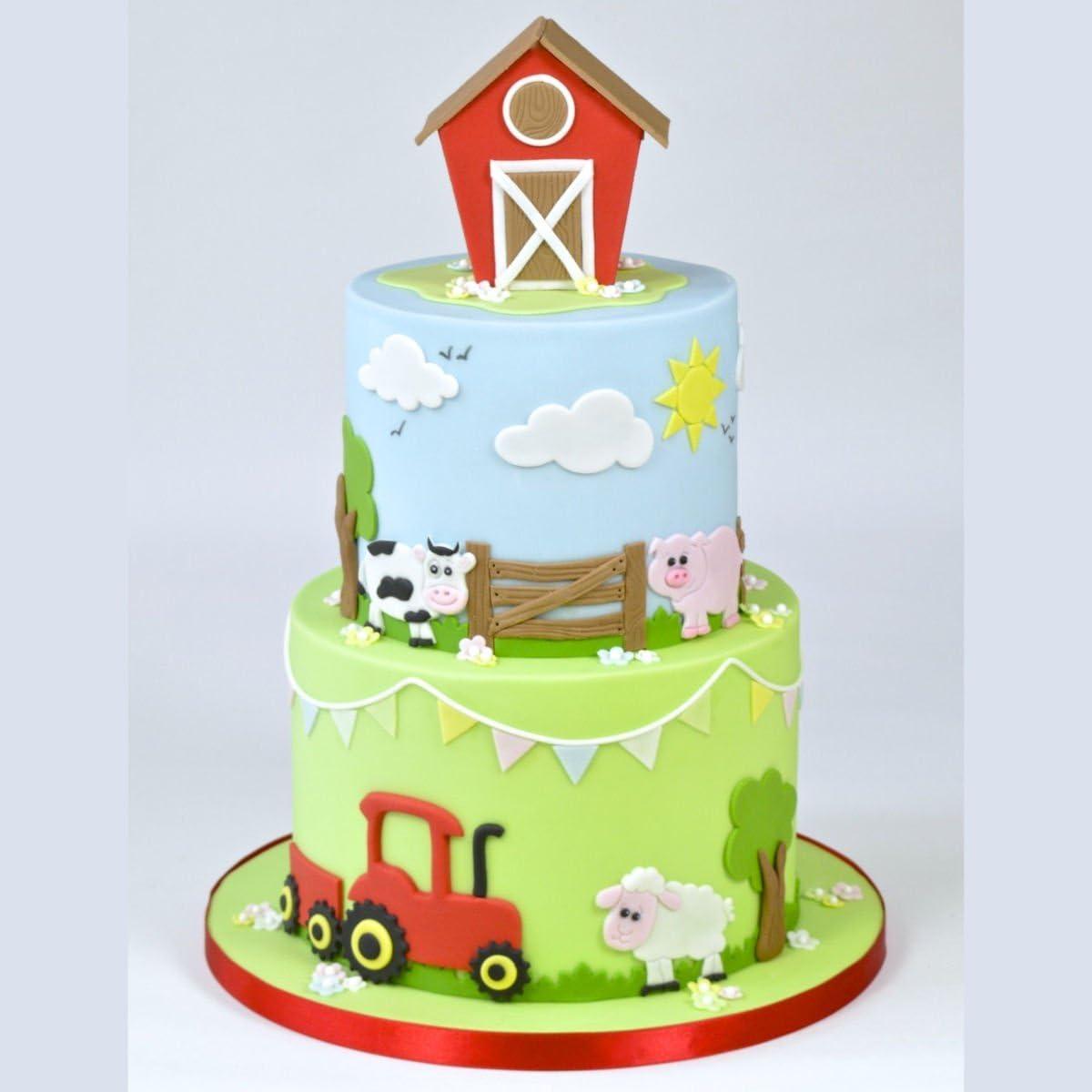 Amazing Fmm Sugarcraft Tractor Cutter Set Cake Decoration Icing Funny Birthday Cards Online Unhofree Goldxyz