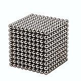 HC-DIY Magnetic Balls Buck Balls 5MM Magic Decompression Magnetic Sculpture Toys for Intelligence Development and Stress Relief 5 MM Set of 1000 Balls Sliver Color (Little Volume)