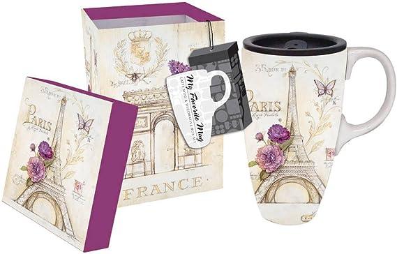 French Lilacs Ceramic Travel Mug