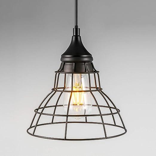 Amazon.com: Lámpara colgante industrial retro, lámpara de ...