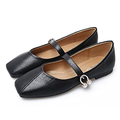 Amazon.com | Meeshine Womens Ankle Strap Mary Jane Style Ballet Flats |  Flats
