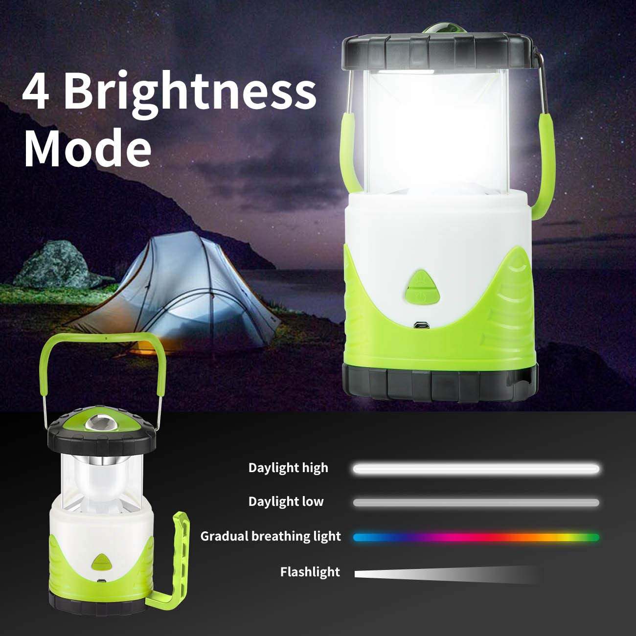 Outages Outdoor Portable Lantern Camping Lantern Lightweight Vintoney LED Camping Lantern Batteries Included Black Survival Kit for Hurricane Storm Collapsible Emergency