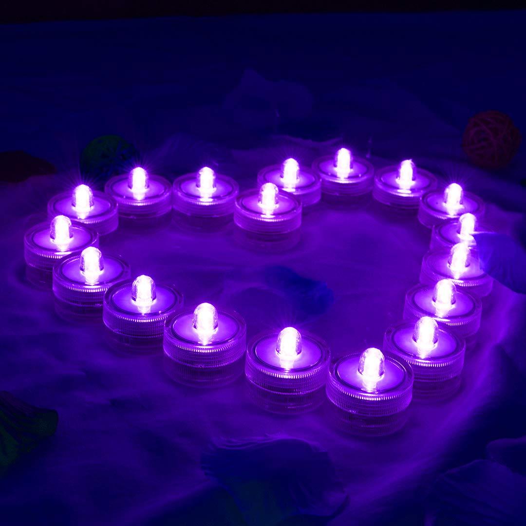 HL 36pack Vert /Étanche Sous-Marin Rond Mini LED Tea Lights Lumi/ères Submersibles pour le Mariage /À La Maison Patry Vase Festival Saint Valentin D/écoration