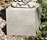 Campania International PD-171-NA Short Square Textured Pedestal, Natural Finish