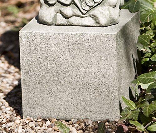 Campania International PD-171-VE Short Square Textured Pedestal, Verde (Square Pedestal Cast)