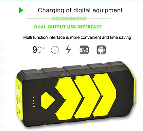 MACHSWON 10000mAh Portable Car Jump Starter Pack,Battery Charger Booster Power Bank 600A Heavy Duty 6.5L Gas - 4.0T Diesel with Dual USB