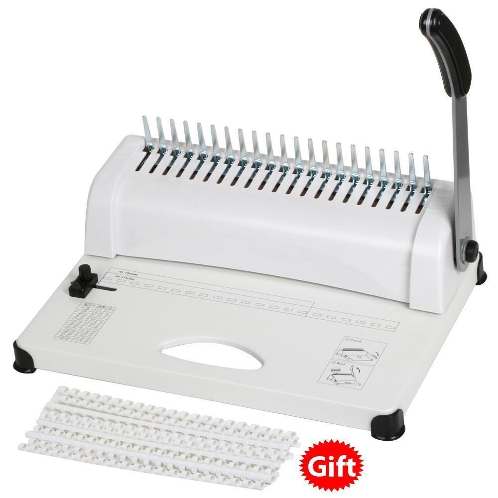 Yaheetech 21 Hole Paper Comb Punch Binding Binder Machine Scrapbook W/Combs 450 Sheets