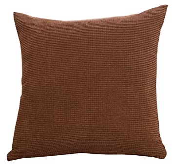 Amazon 4040 Inch Vivid Color Corduroy Throw Pillow Cover Sham Impressive 22 Inch Pillow Covers