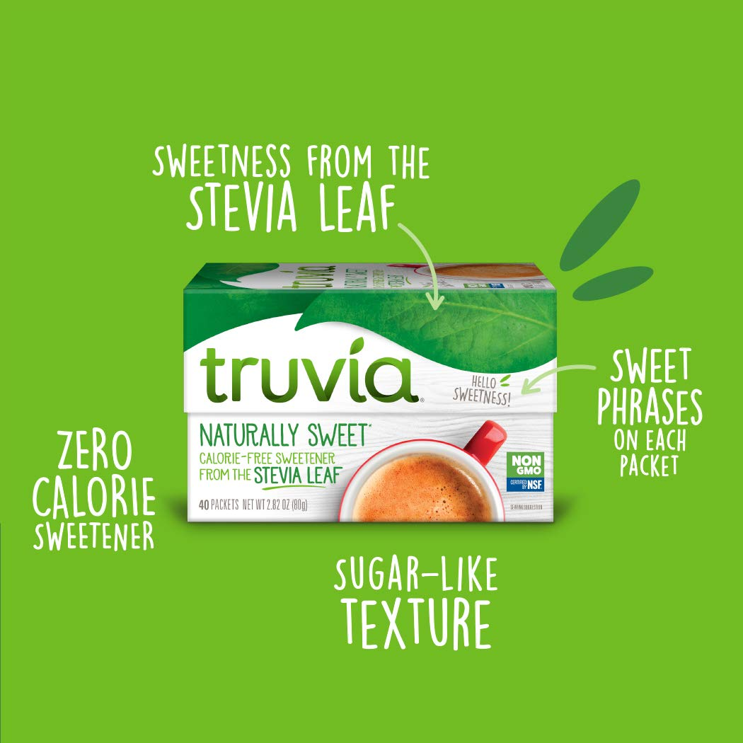 Truvia Natural Stevia Sweetener Packets, 40-Count Carton (Net Wt. 2.82 oz) (Pack of 12) by TRUVÍA