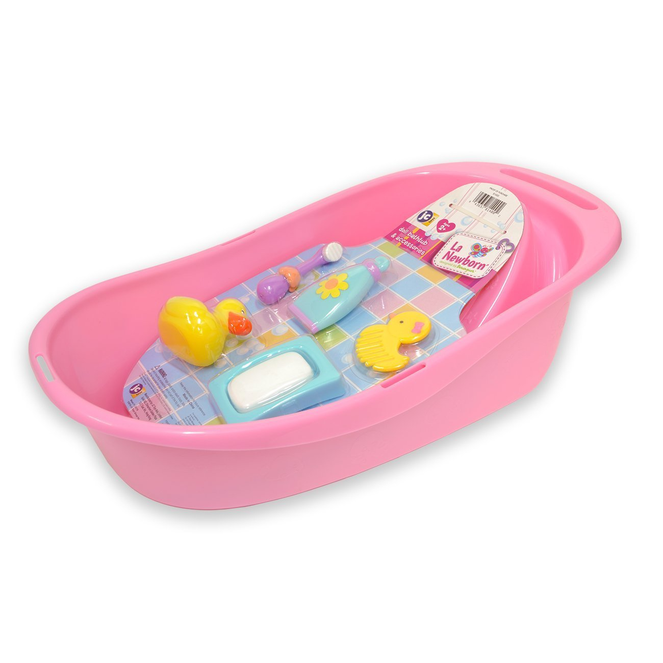 JC Toys 81400 7-Piece Pink Baby Doll Bath Gift Set Fits Most Dolls up to 16 Doll Inc. JC Toys Group
