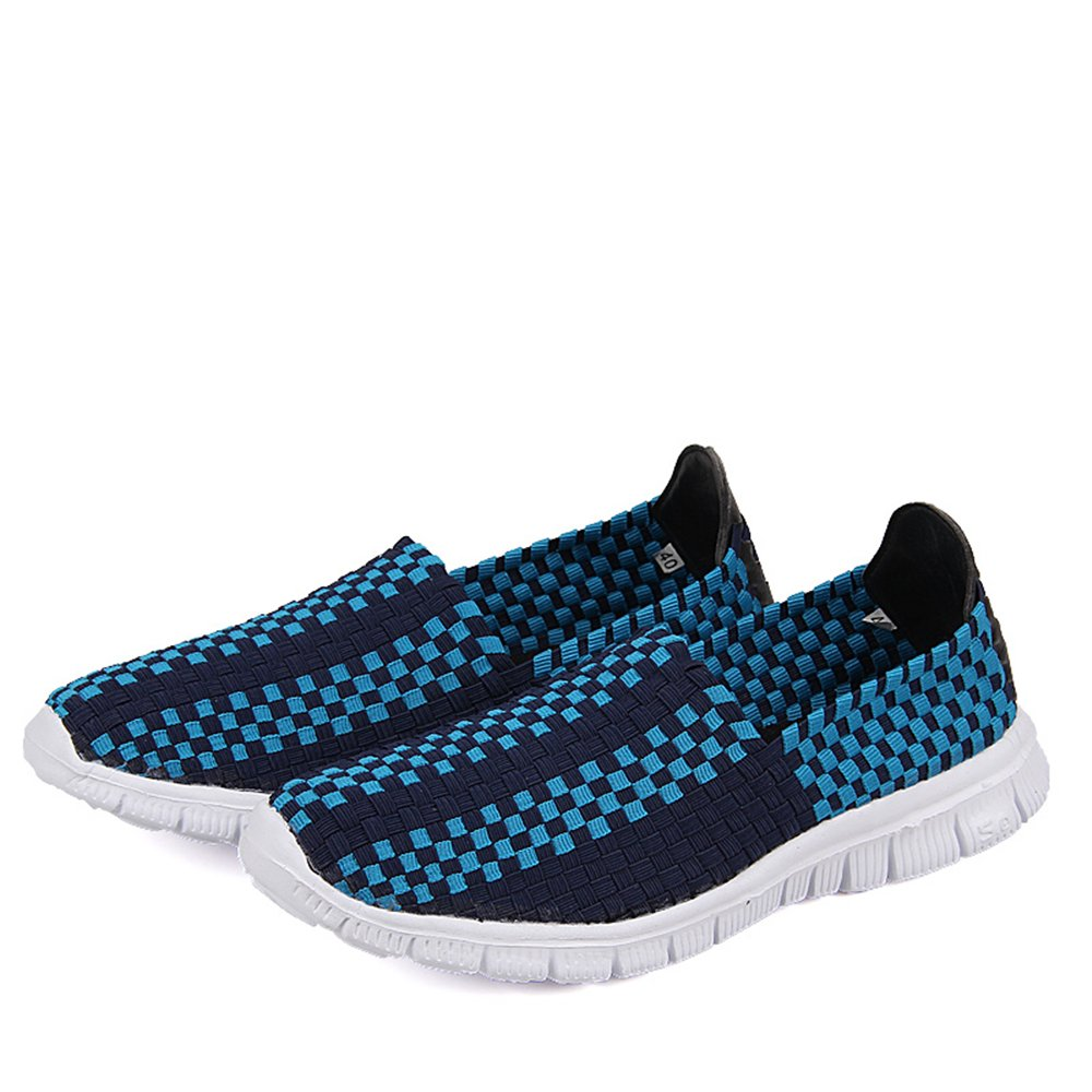 YMY Women's Woven Sneakers Casual Lightweight Sneakers - Breathable Running Shoes B07DXDNSF1 EU39/US D(M) Men6.5|Blue1