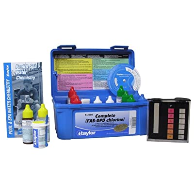 TAYLOR TECHNOLOGIES INC K-2006 TEST KIT COMP CHLORINE FAS-DPD : Swimming Pool Liquid Test Kits : Garden & Outdoor