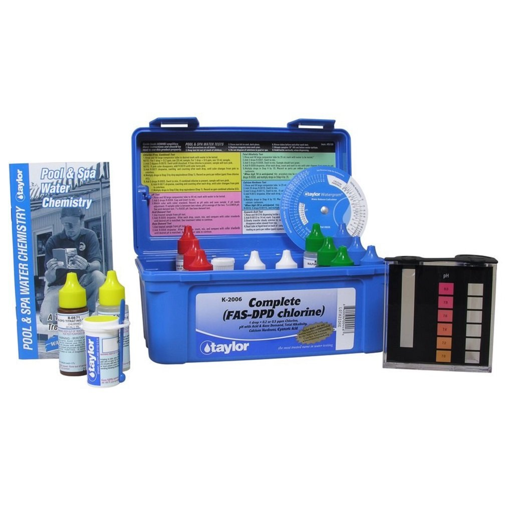 TAYLOR TECHNOLOGIES INC K-2006 TEST KIT COMP CHLORINE FAS-DPD by taylor