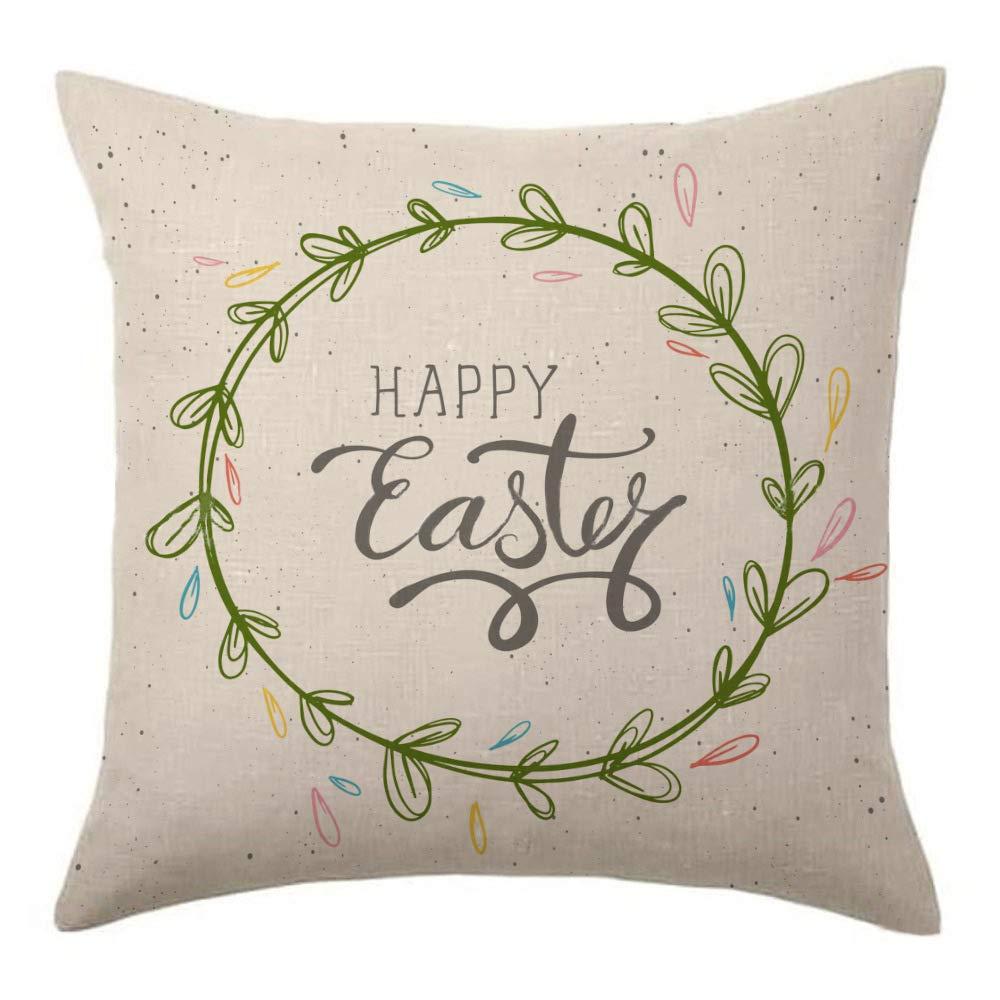 Mcaishen - Funda de cojín de Lino y algodón con diseño de Huevos ...