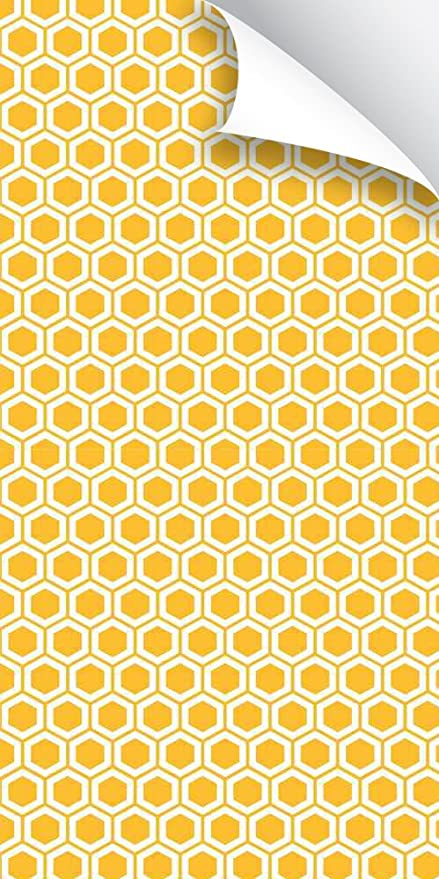 Removeable Wallpaper Abstract Yellow Honeycomb Amazoncom