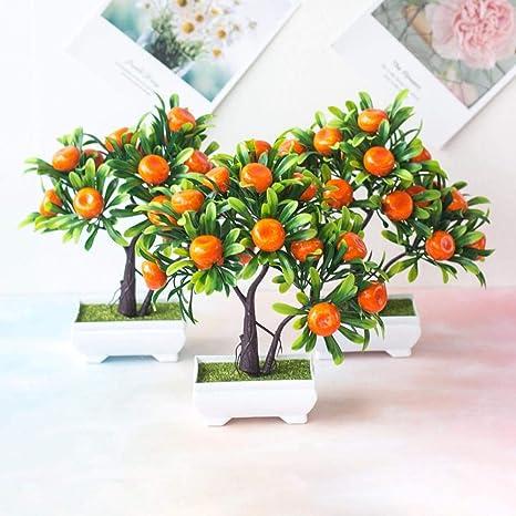 Amazon Com Zzjiaczs Artificial Fruit Orange 1pc Faux Fruit Orange Tree Bonsai For Home Office Garden Desktop Party Decor Orange Home Kitchen