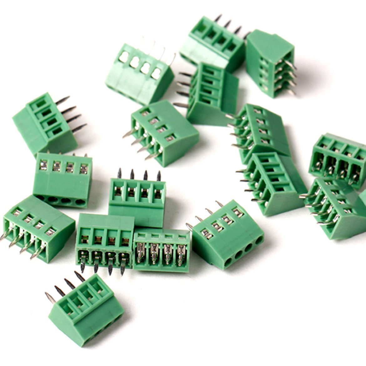 50pcs/lot E-Simpo 2.54mm PCB Screw Terminal Block, 2.54mm 150V6A CE Rohs UL (2.54mm 4P)