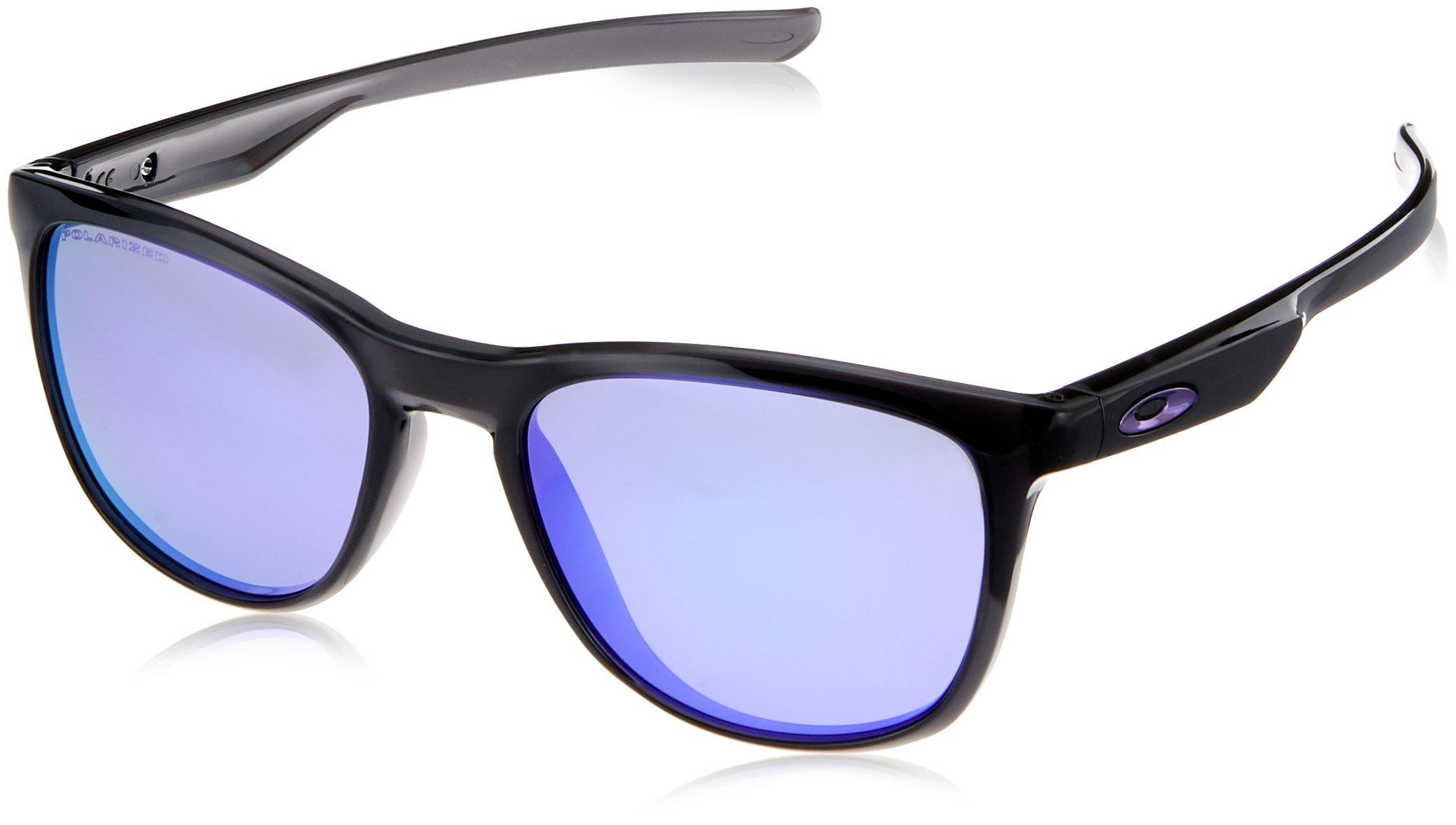 Oakley Men's Trillbe X Polarized Iridium Rectangular Sunglasses POLISHED BLACK INK 52 mm