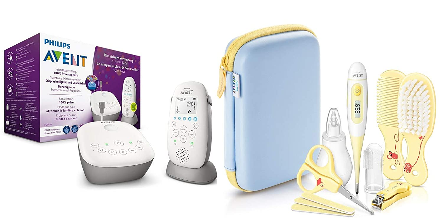 Philips Avent Audio-Babyphone SCD733/26, DECT-Technologie, Eco-Mode