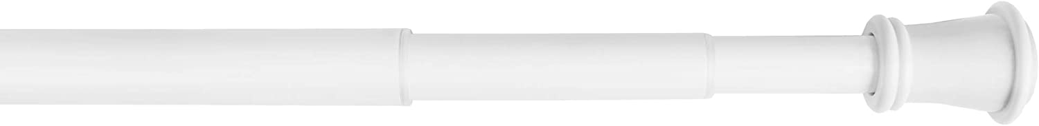 Zenna Home Easy to Install Adjustable Tension Smart Window Curtain Rod, 28 inches to 66 inches, White