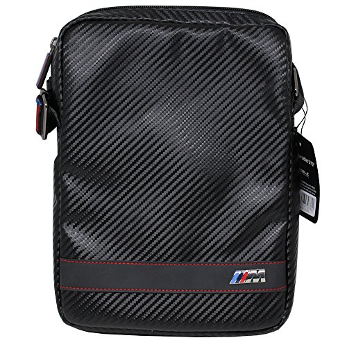 [해외]어 제이 비 엠 블 류 (BMW) 공식 라이센스 상품 9 ~ 10 인치 태블릿 PC 대응 숄더백 탄소 디 BMCBTBD5BL / Air Jay-M W (BMW) official License 9 ~ 10 inch Tablet PC compatible shoulder bag carbon tone BMCBTBD5BL