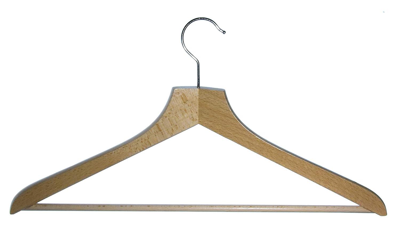 in Legno di faggio Hagspiel Ganci girevoli in Metallo nichelato Made in Austria con Barra per Pantaloni Grucce Appendiabiti in Legno 12 Pezzi laccate con Vernice ad Acqua
