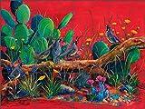 Southwest Art Tile Mural Backsplash Ceramic - Desert Choir by Susan Libby (32'' x 24'' - 8'' tiles)