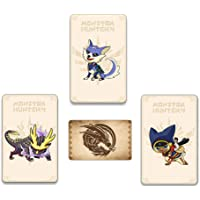3 PCS Monster Hunter Rise NFC Mini Cards, Ailucat, Gark, Resentment Dragon Compatible with Switch/Switch Lite/New 3DS