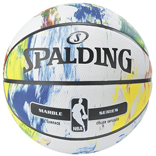 Spalding Marble Rubber Basketball - Official NBA Size and Weight.
