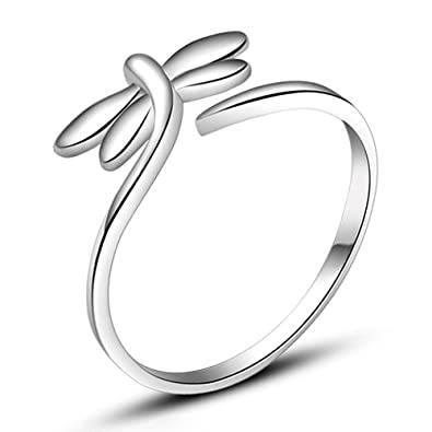 Apotie 925 Sterling Silver Hollow Round Adjustable Ring simple wedding gift fashion jewelry for women GzOT4RuR6