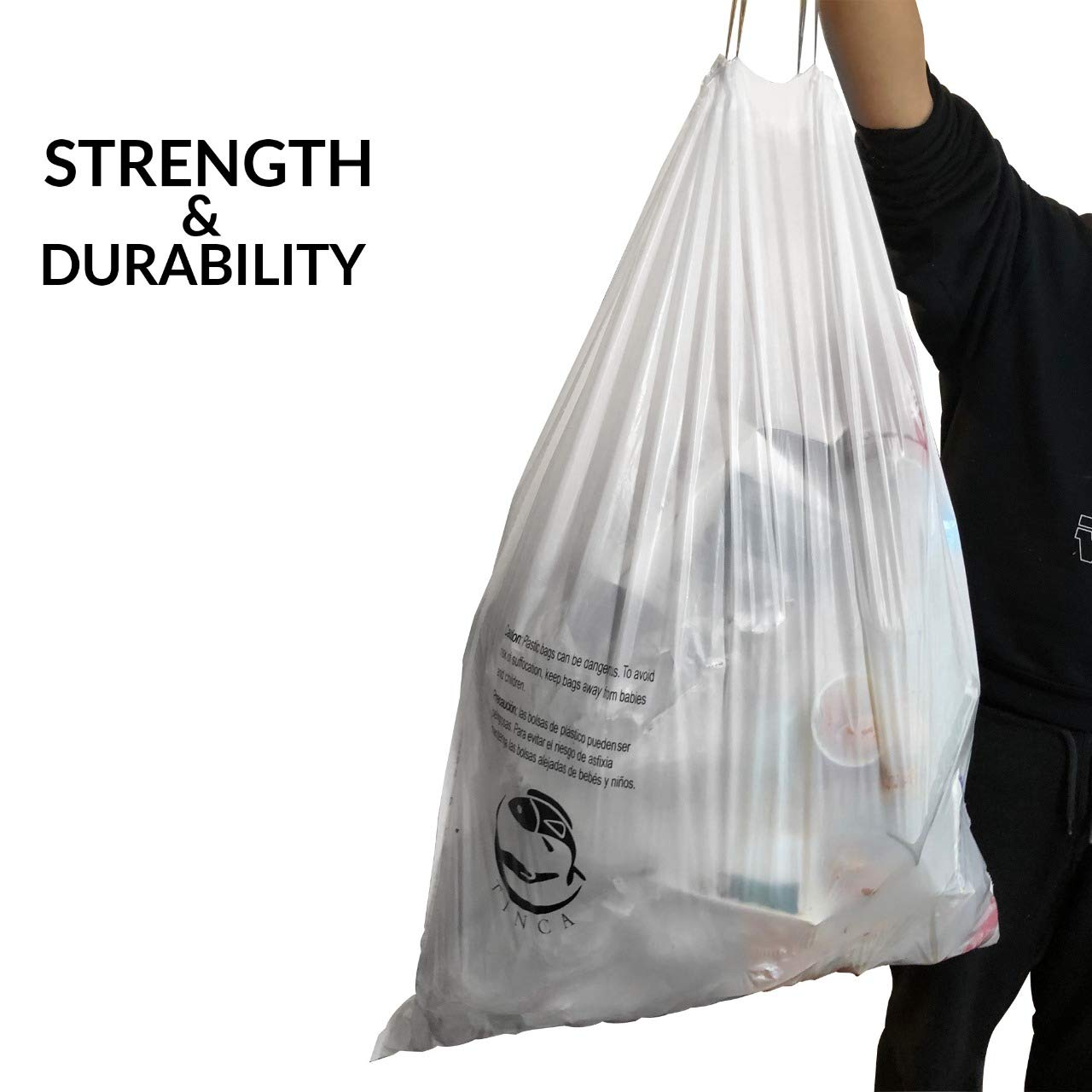 Amazon.com: Tinca 13-16 Gallon Trash Bag (P Compatible ...