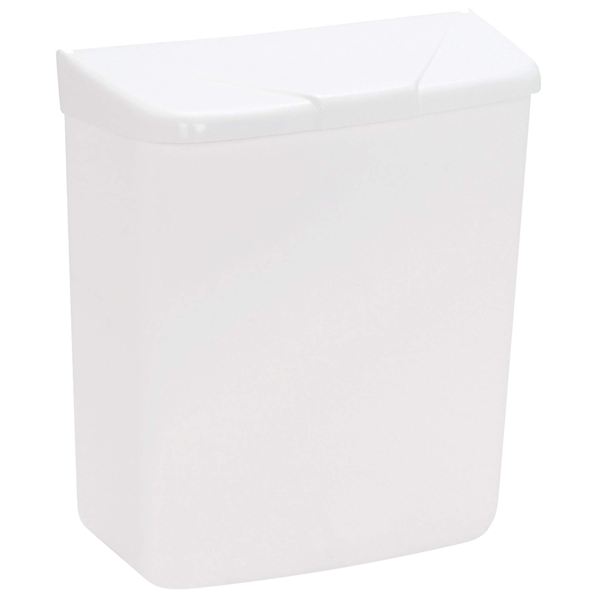 White Wall Mountable Sanitary Napkin Receptacle, 11'' x 9'' x 5'', White, 1/Case by Partners Brand
