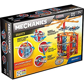 Geomag - MECHANICS GRAVITY UP & DOWN CIRCUIT - 330-Piece Building Set with Magnetic Motion, Certified STEM Marble Run Construction Toy for Ages 7 and Up