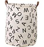 Storage Bins, Canvas Storage Bags/ Baskets Nursery Toy Storage/ Toy Organizers Laundry Baskets/ Hampers (ALPHABET)