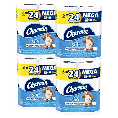 Price comparison product image Charmin Ultra Soft Mega Roll Toilet Paper, 24 Count