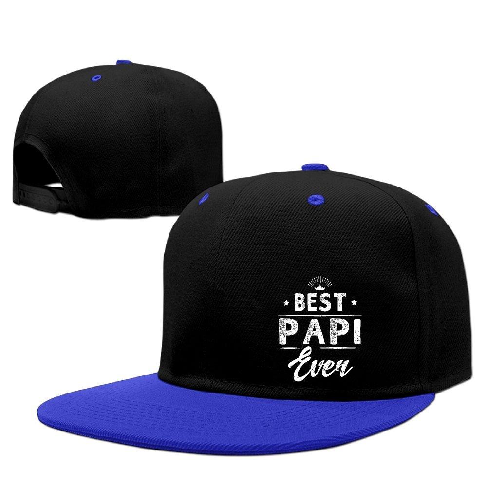 8979a45d421 Amazon.com  Best Papi Ever Hip Hop Baseball Caps Breathable Flat Bill Plain Snapback  Hats KellyGreen  Sports   Outdoors
