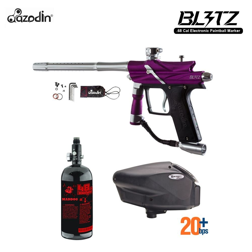 MAddog Azodin Blitz 3 HPA Paintball Gun Package - Purple by MAddog