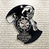 Harley Quinn Gift Wall Clock Vinyl Record Art Decor Vintage