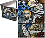 Photo Jigsaw Puzzle of Stained glass depicting St. Dominic at Saint-Honore d Eylau church