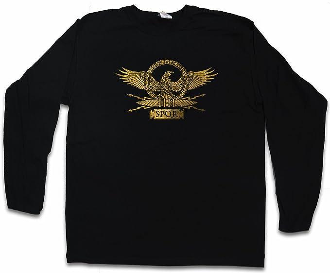e478d4e83a9397 Roman Eagle Herren Langarm T-Shirt – Adler Römisches Imperium Karte Rom  Kaiser Ceasar Map