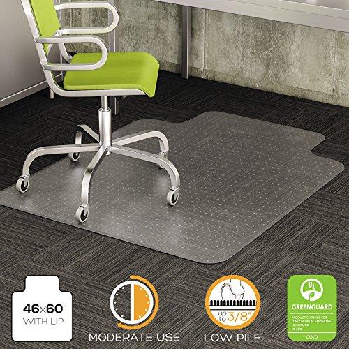 t-o DuraMat Chair Mat For Low Pile Carpet w/Lip ()