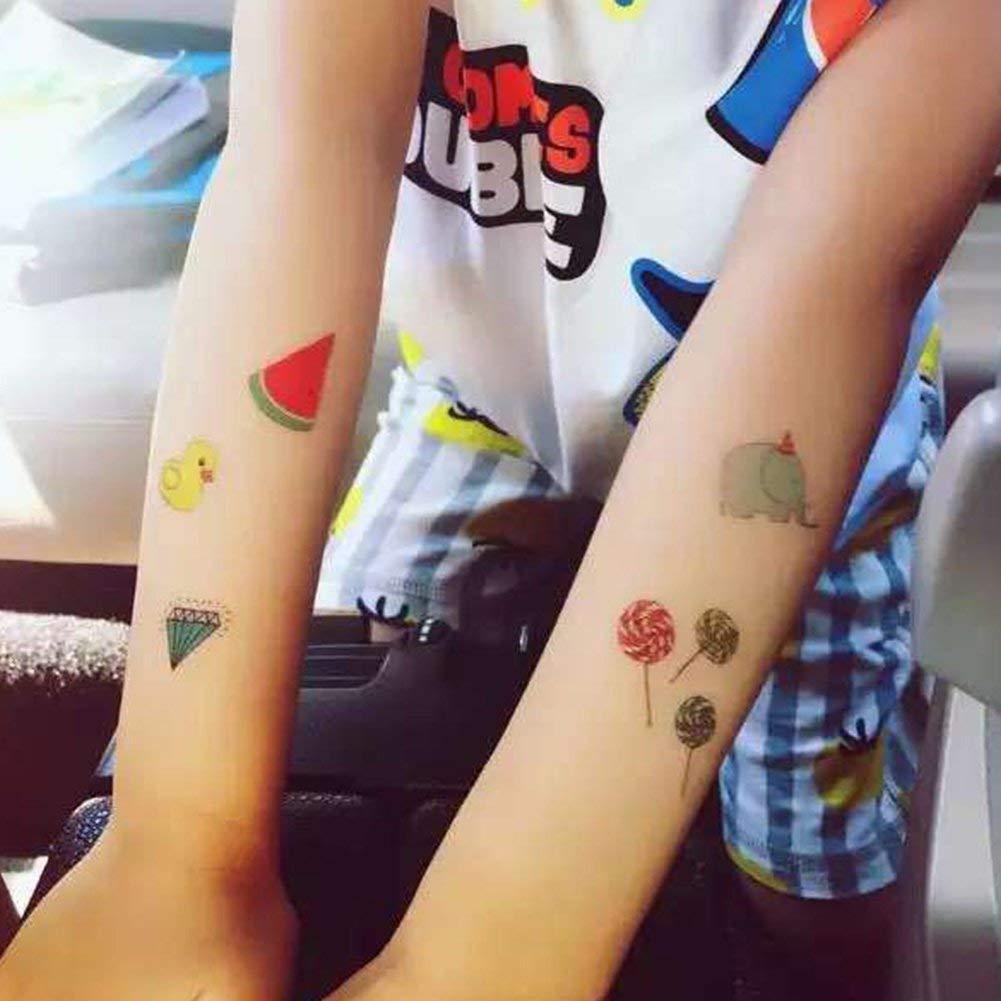 Ganquer 10 Hoja Dibujos Animados Lindo Niños Tatuaje Temporal ...