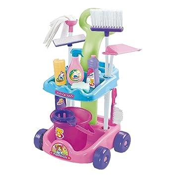 CLAUDIO REIG Carro de Limpieza con Cubo (9769): Amazon.es: Juguetes y juegos
